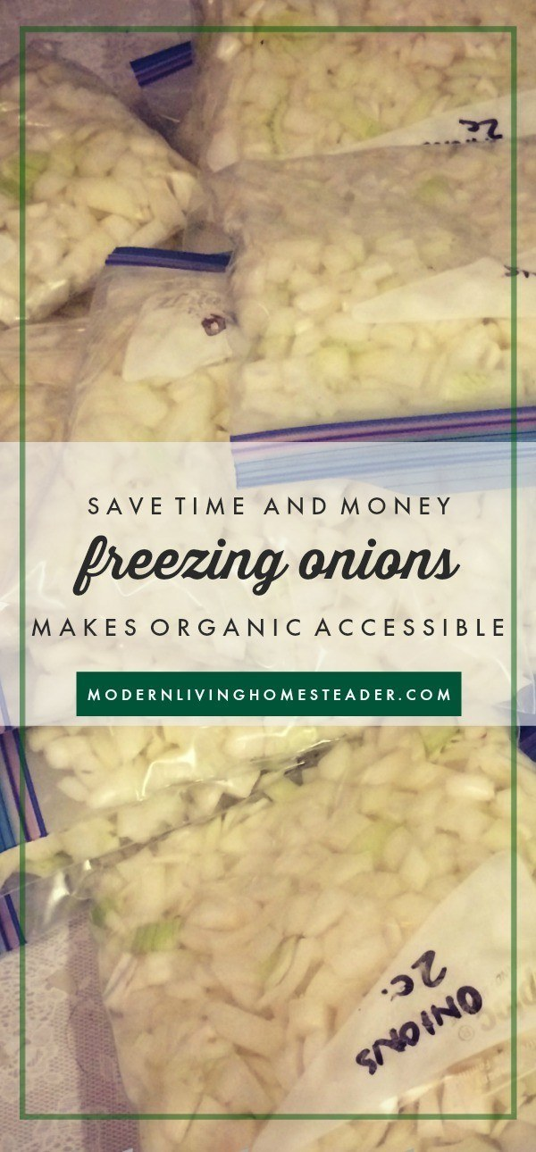 Stretch your food budget, make organic more accessible, and simplify your kitchen life with one simple habit: freeze chopped onions.